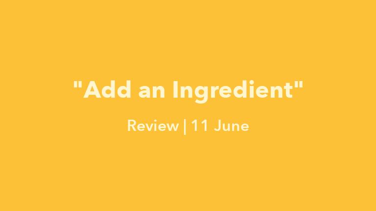Add an Ingredient